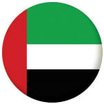 United Arab Emirates (UAE) Country Flag 58mm Button Badge